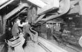 Clark-Nickerson Lumber Company, interior view with workers
