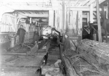 Clark-Nickerson Lumber Company Interior.  Erwin H. Meech setting carriage.