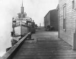 "Oscar Carlson Exhibit photo showing vow of the ""Verona"" at the Everett City Dock; a..."