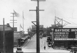 Oscar Carlson Exhibit photo showing a general view of the Everett City Dock, scene of the Everett...