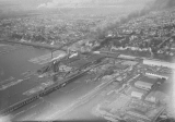 Aerial view of mills and waterfront, Everett, Washington