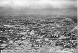 Aerial view of Everett, Washington business district