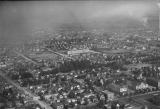 Aerial view of Everett, Washington residential area