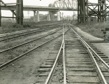 Great Northern Railroad tracks at Delta Yards in Everett, Washington