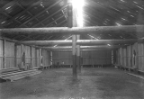 Interior of new smoke house (long house, potlatch house) on the Tulalip Indian Reservation