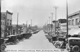 First Avenue, looking west, Snohomish, Washington