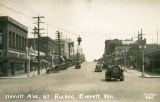 Hewitt Avenue, looking east, at intersection of Rucker, Everett, Washington