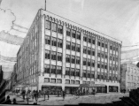 Rumbaugh-MacLain Department Store architect's drawing