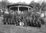 Tulalip Indian School band and bandstand