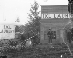 IXL Laundry truck and building