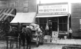 B. D. Jones Butcher shop and Everett Bakery on Hewitt Avenue near Walnut, Everett, Washington