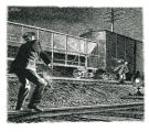 Nocturnal Rail Yard Scene