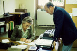 Lois Morton in Office with Bill Moore